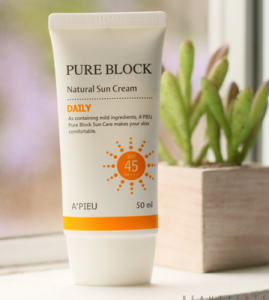 APIEU Pure Block Natural Sun Cream SPF 45 PA+++