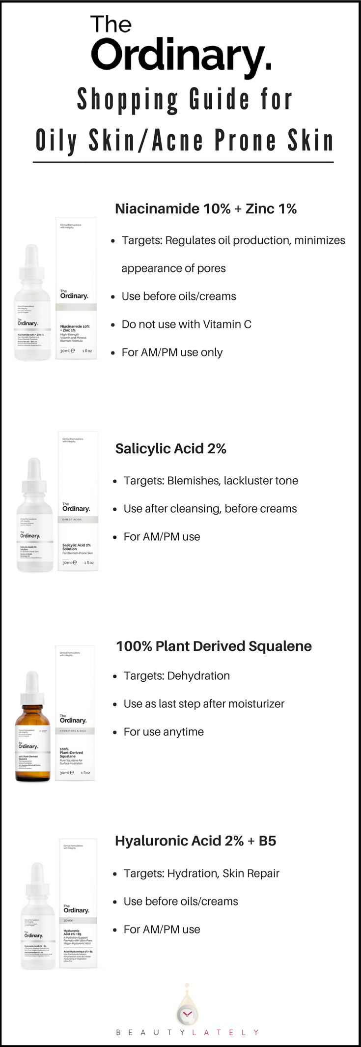 The Ordinary Oily Acne Prone Skin Guide