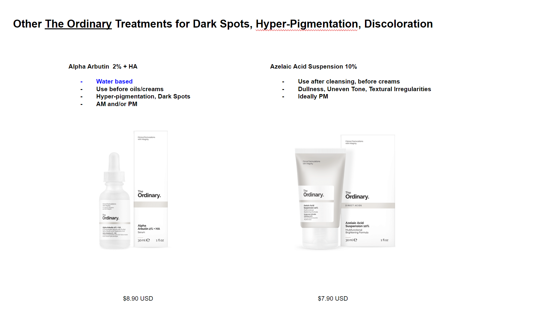 The Ordinary Treatment Guide for Dark Spots