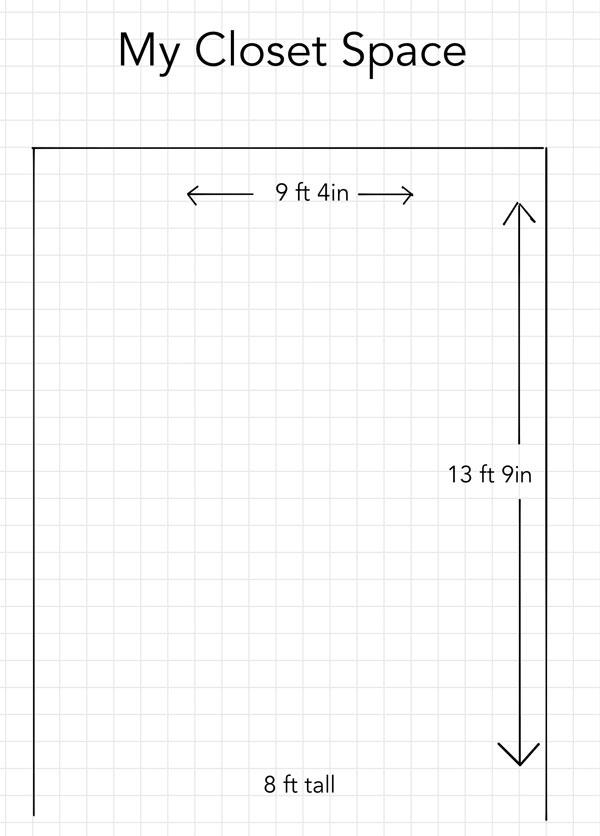 IKEA PAX Closet Planning Sketch