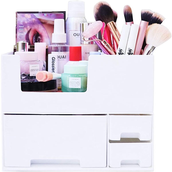 stackable skincare organizer with drawer amazon link